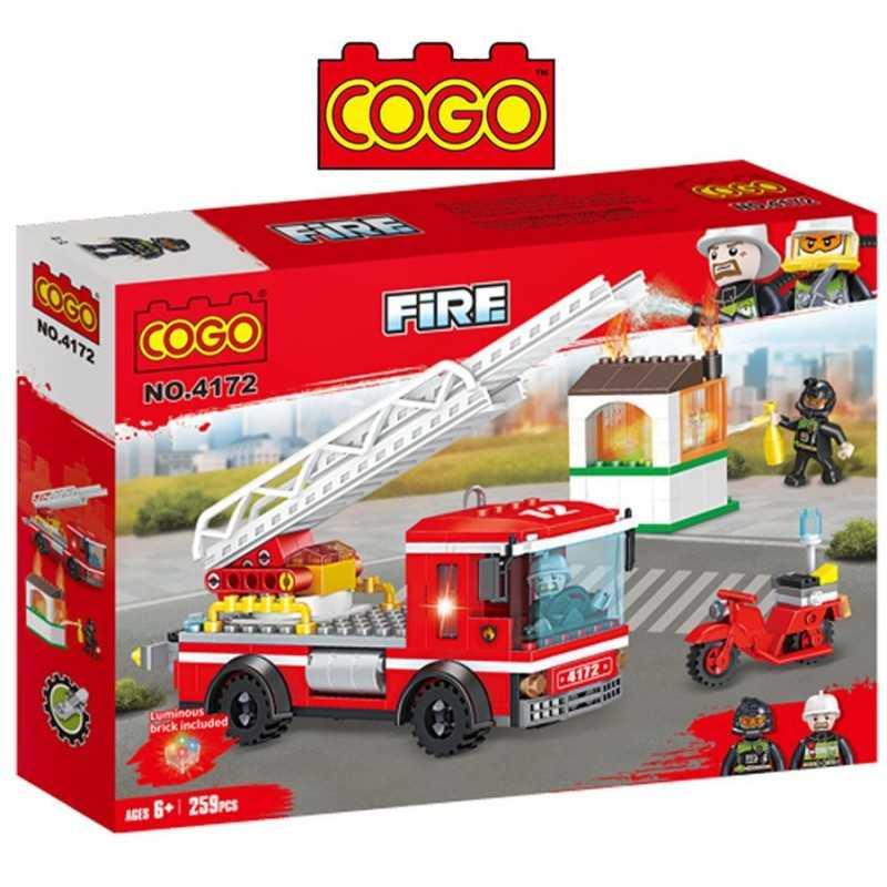 Bomberos en Acción - Juego de Construcción - Cogo Blocks - 259 piezas