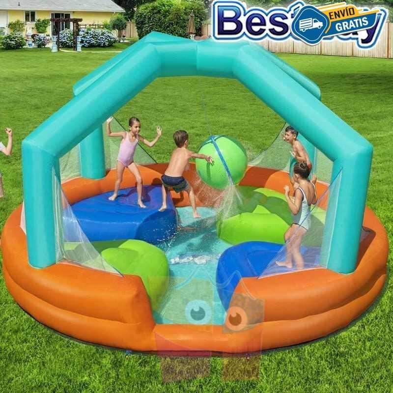 Mega Parque Acuático Inflable Dodge & Drench H2OGO! - 4,5 x 4,5 x 2,68 Mtr - Bestway