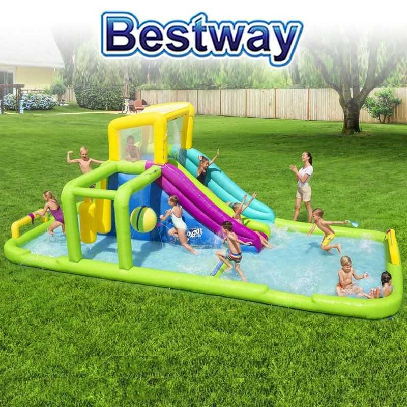 Mega Parque Acuático Inflable Splash Course H2OGO! - 7,1 x 3,1 x 2,65 Mtr - Bestway