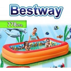 Piscina Bestway - 54114 - 778 Ltrs. Infantil Aventura 3D - Inflable + Inflador