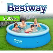 Piscina Bestway - 57008 - 2.300 Ltrs. - Redonda - Con borde inflable + Inflador