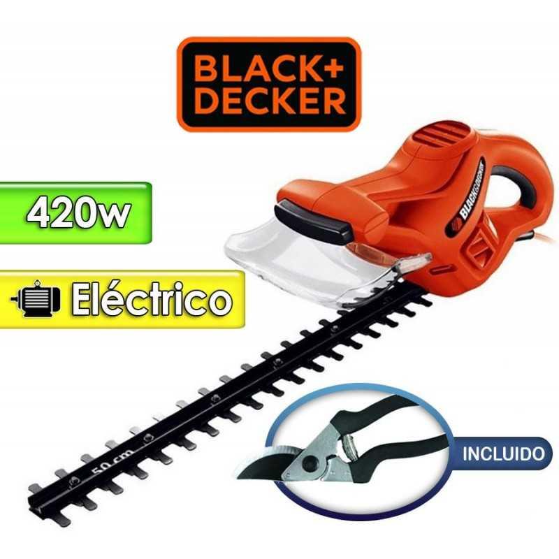 Podadora de Cerca Viva Motor Electrico 420 W con Tijera para podar - 50 cms - Black+Decker - HT500KIT-B2
