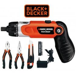 Kit Destornillador Inalambrico con 14 Accesorios - Black+Decker - HDT51-901