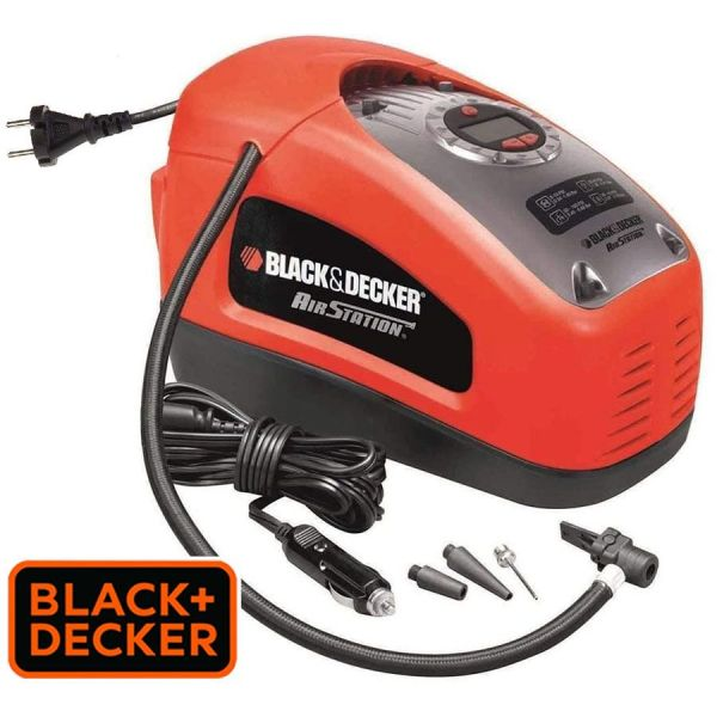 Inflador / Compresor de aire electrico - 160 PSI / 11 bar - Black+Decker - ASI300