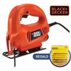 Sierra Caladora - 410W - Black+Decker - KS410 + Kit de Hojas Sierras de Regalo