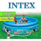 Piscina Intex - 28126 - 3.854 Ltrs. - Redonda - Con borde inflable + Inflador