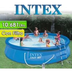 Piscina Intex - 28164 - 10.681 Ltrs. - Redonda - Con borde inflable + Inflador