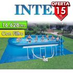 Piscina Intex - 28194 - 16.628 Ltrs. - Ovalada - Con borde inflable + Inflador