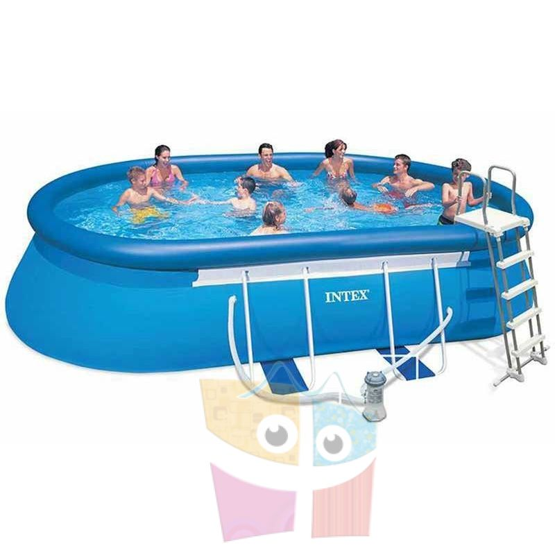 Piscina intex ltrs ovalada con borde for Piscina 6000 litros