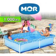 Piscina Estructura Metalica - 1.000 Lts - 1,89 x 1,26 x H. 0,42 Mtr - MOR