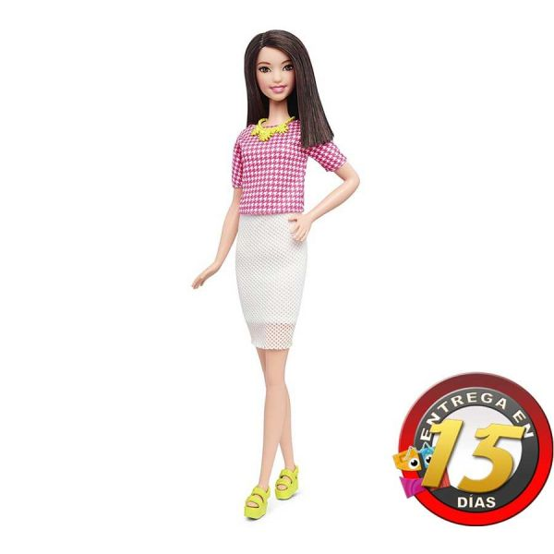 Muñeca Barbie Fashionistas - White & Pink Pizzazz