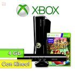 Xbox 4G 360 4Gb con Kinect con Juego Kinect Adventures