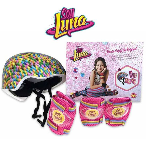 Set Soy Luna Original Casco, rodillera, codera - 053-26076