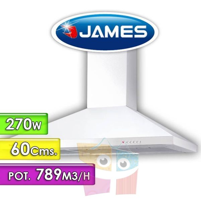 Campana Extractora - James - Linea Kavez 60 cm - Blanca