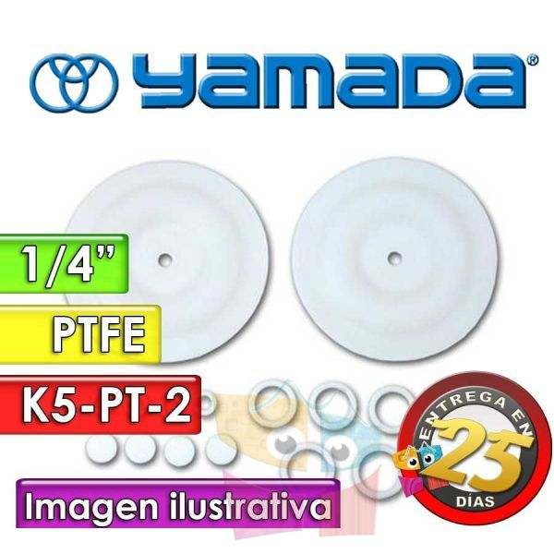 "Kit de reparo de partes Húmedas - Yamada - K5-PT-2 - para bombas NDP-5FPT de 1/4"""