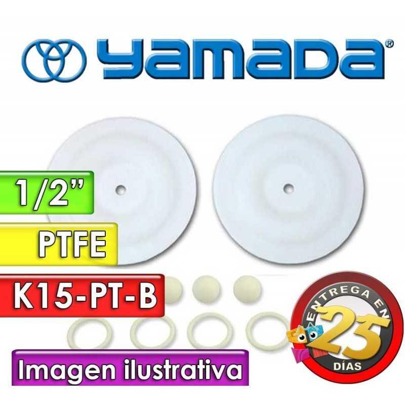 "Kit de reparo de partes Húmedas - Yamada - K15-PT-B - para bombas NDP-15BPT de 1/2"""