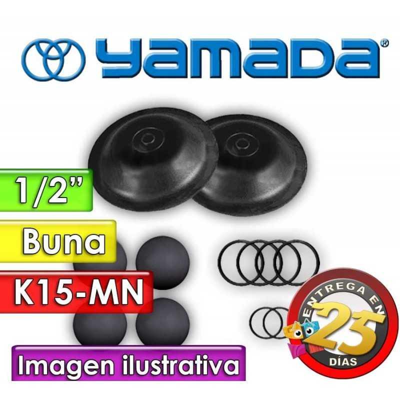 """Kit de reparo de partes Húmedas - Yamada - K15-MN - para bombas NDP-15BAN de 1/2"""""""