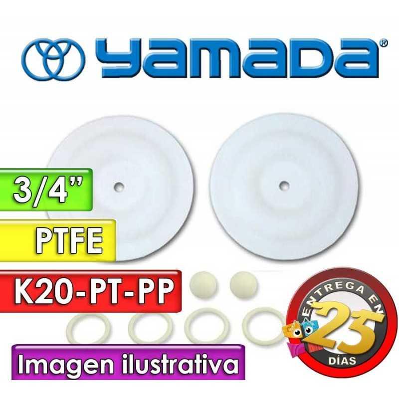 "Kit de reparo de partes Húmedas - Yamada - K20-PT-PP - para bombas NDP-20BPT-PP de 3/4"""