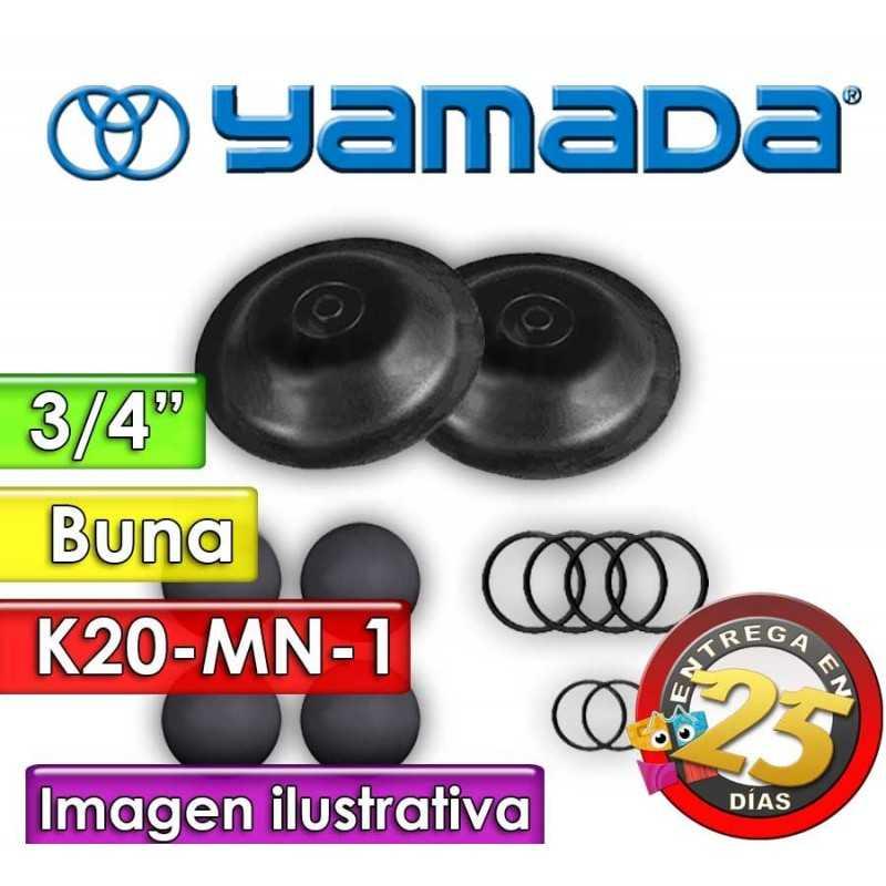 """Kit de reparo de partes Húmedas - Yamada - K20-MN-1 - para bombas NDP-20BAN de 3/4"""""""