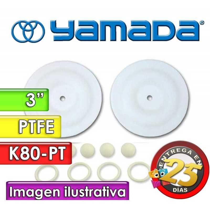 "Kit de reparo de partes Húmedas - Yamada - K80-PT - para bombas NDP-80BPT de 3"""