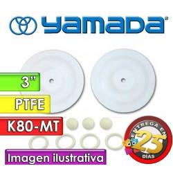 """Kit de reparo de partes Húmedas - Yamada - K80-MT - para bombas NDP-80BAT y NDP-80BST de 3"""""""