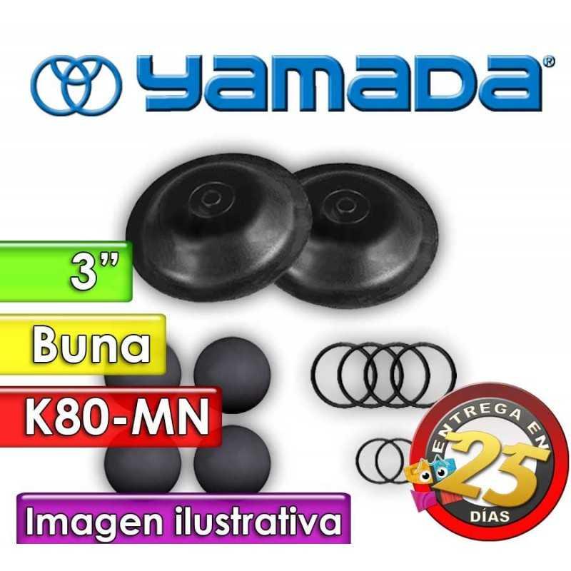 """Kit de reparo de partes Húmedas - Yamada - K80-MN - para bombas NDP-80BAN de 3"""""""
