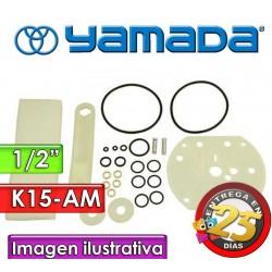 "Kit de reparo de motor neumatico - Yamada - K15-AM - para bombas NDP-15 de 1/2"""