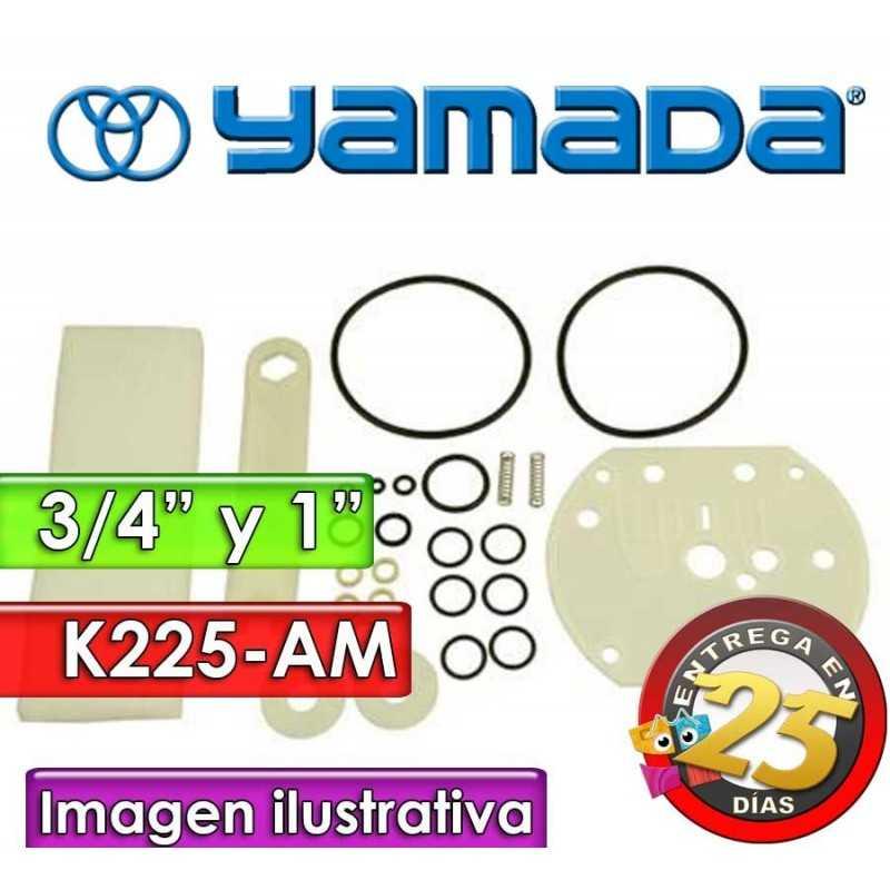 """Kit de reparo de motor neumatico - Yamada - K225-AM - para bombas NDP-20 y NDP-25 Metalicas de 3/4"""" y 1"""""""