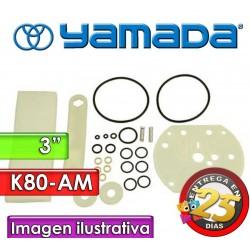 """Kit de reparo de motor neumatico - Yamada - K80-AM - para bombas NDP-80 Plasticas y Metalicas de 3"""""""