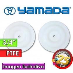 """Diafragmas de PTFE - Yamada - 771083 - para bombas NDP-20 de 3/4"""""""