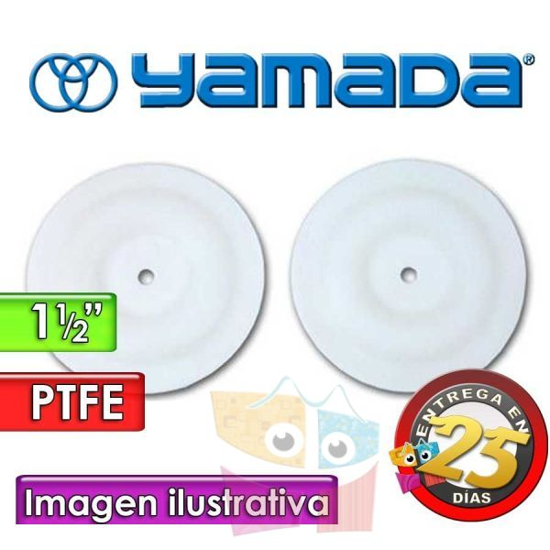 "Diafragmas de PTFE - Yamada - 770814 - para bomas NDP-40 de 1.1/2"""