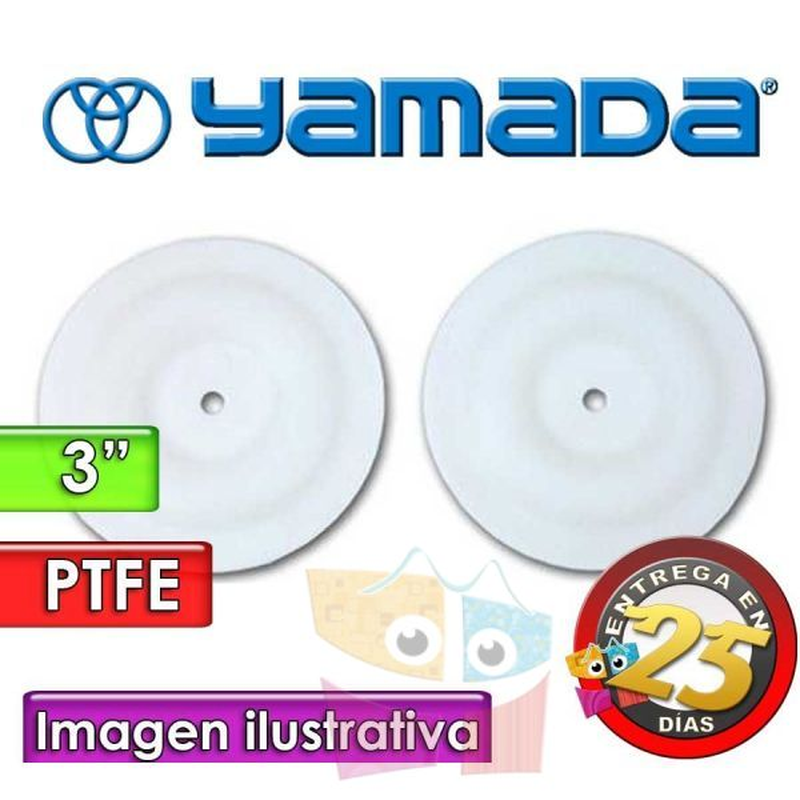 "Diafragmas de PTFE - Yamada - 770934 - para bomas NDP-80 de 3"""