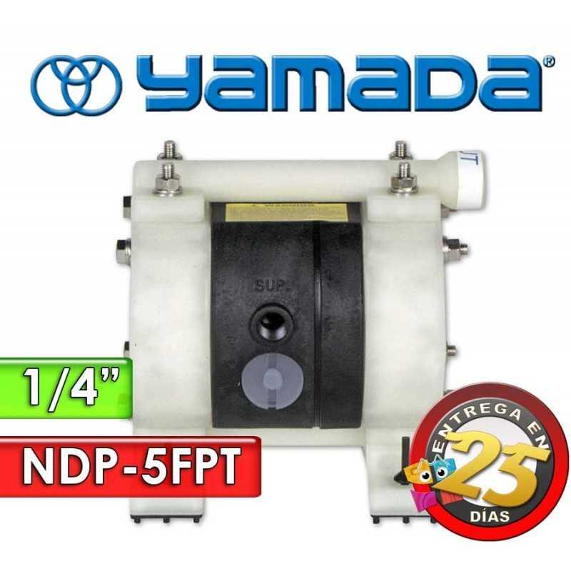 "Bomba Neumática Yamada - NDP-5FPT - Diámetro 1/4"" - Cuerpo de Polipropileno, Internos de PTFE"