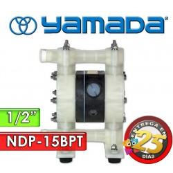 "Bomba Neumática Yamada - NDP-15BPT - Diámetro 1/2"" - Cuerpo Polipropileno, Internos de PTFE"