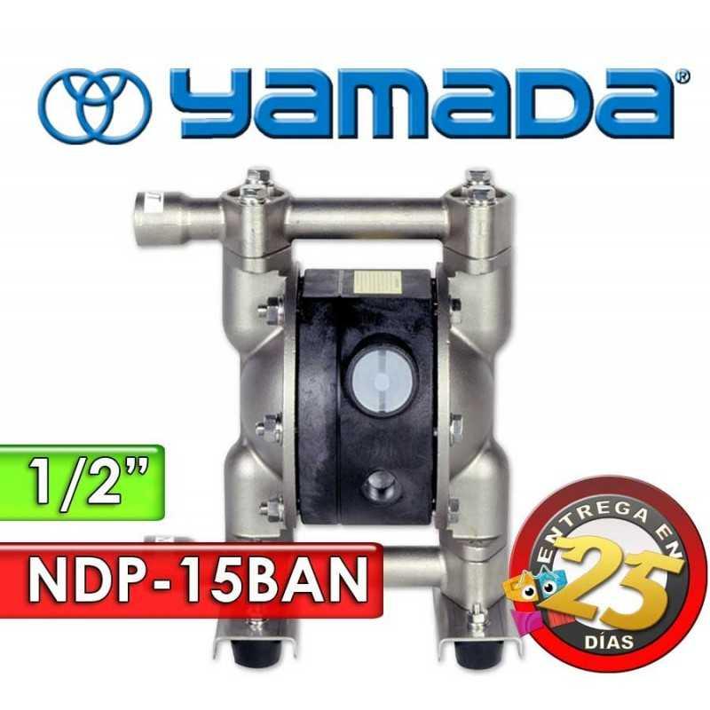 """Bomba Neumática Yamada - NDP-15BAN - Diámetro 1/2"""" - Cuerpo de Aluminio, Internos de Buna"""