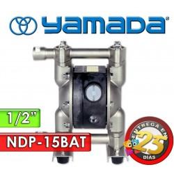 "Bomba Neumática Yamada - NDP-15BAT - Diámetro 1/2"" - Cuerpo de Aluminio, Internos de PTFE"