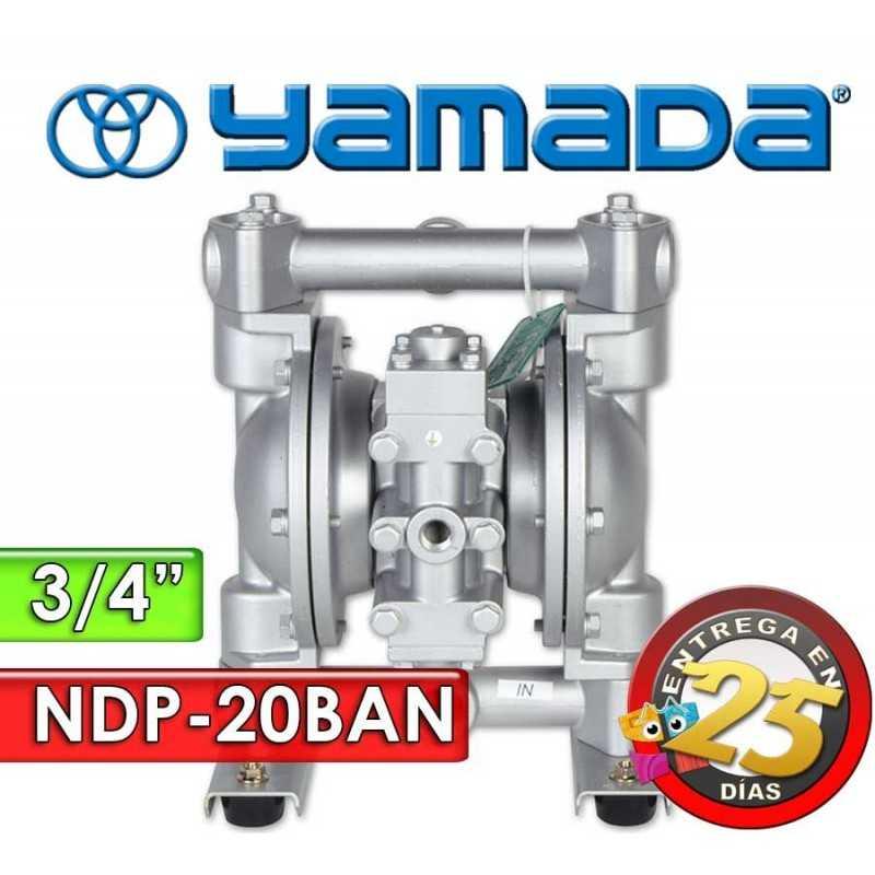 """Bomba Neumática Yamada - NDP-20BAN - Diámetro 3/4"""" - Cuerpo de Aluminio, Internos de Buna"""