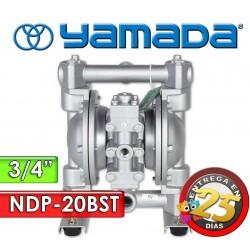 "Bomba Neumática Yamada - NDP-20BST - Diámetro 3/4"" - Cuerpo Inoxidable, Internos de PTFE"