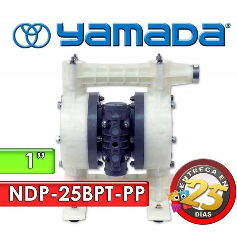 "Bomba Neumática Yamada - NDP-25BPT-PP - Diámetro 1"" - Cuerpo Polipropileno, Internos de PTFE"