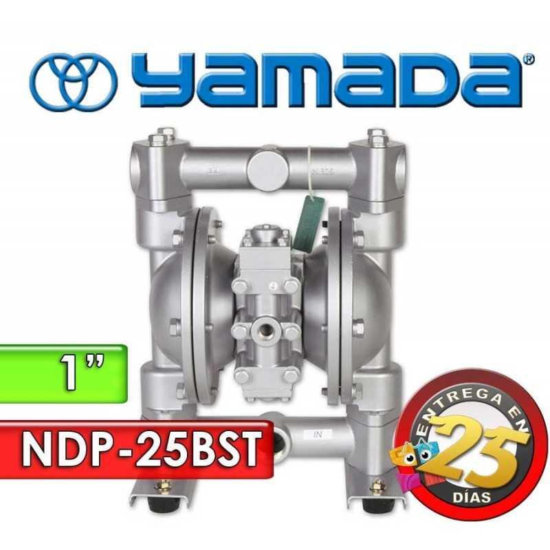 "Bomba Neumática Yamada - NDP-25BST - Diámetro 1"" - Cuerpo Inoxidable, Internos de PTFE"
