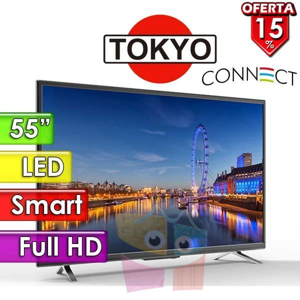 "TV Led HD 55"" Smart - Tokyo - CONNECT TVTOKTCLED4855S"