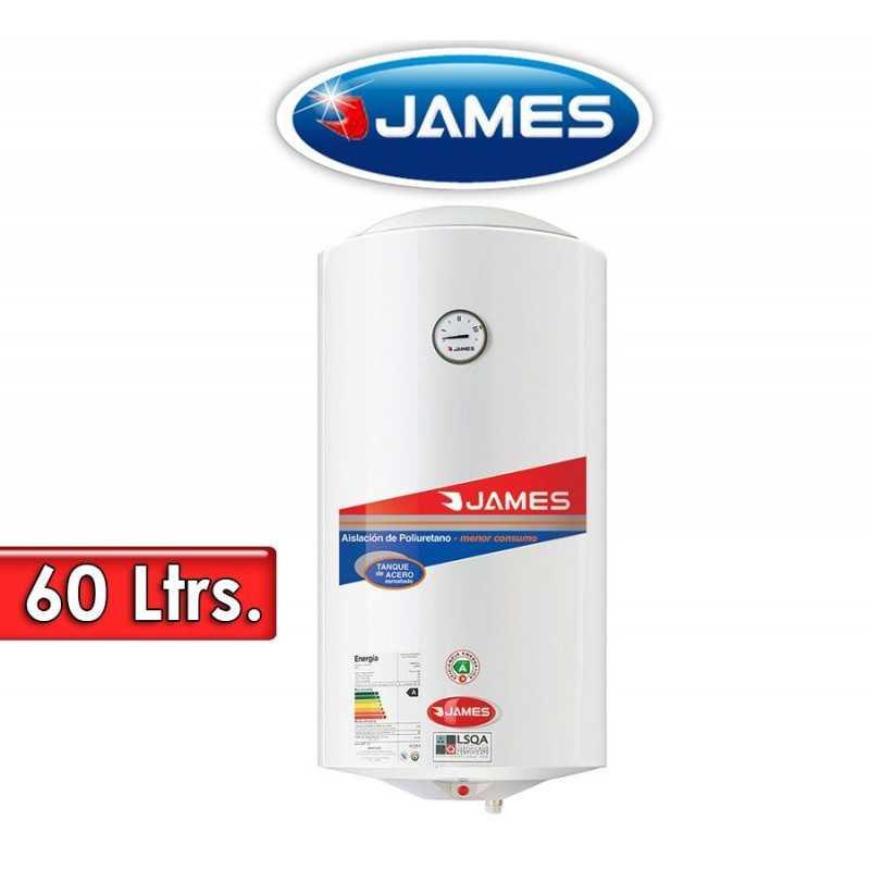 Termocalefón 60 Litros Vertical - James - Tanque de Acero