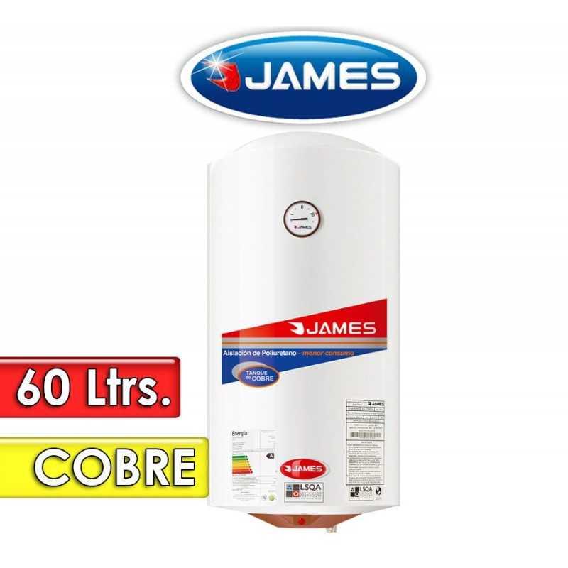 Termocalefón 60 Litros Vertical - James - Tanque de Cobre