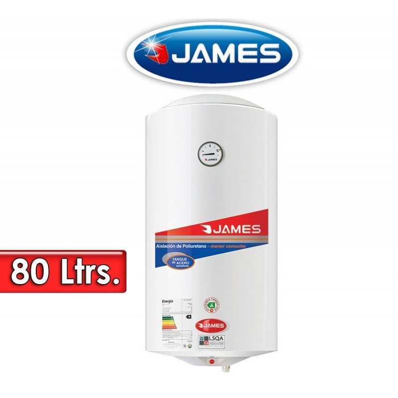 Termocalefón 80 Litros Vertical - James - Tanque de Acero