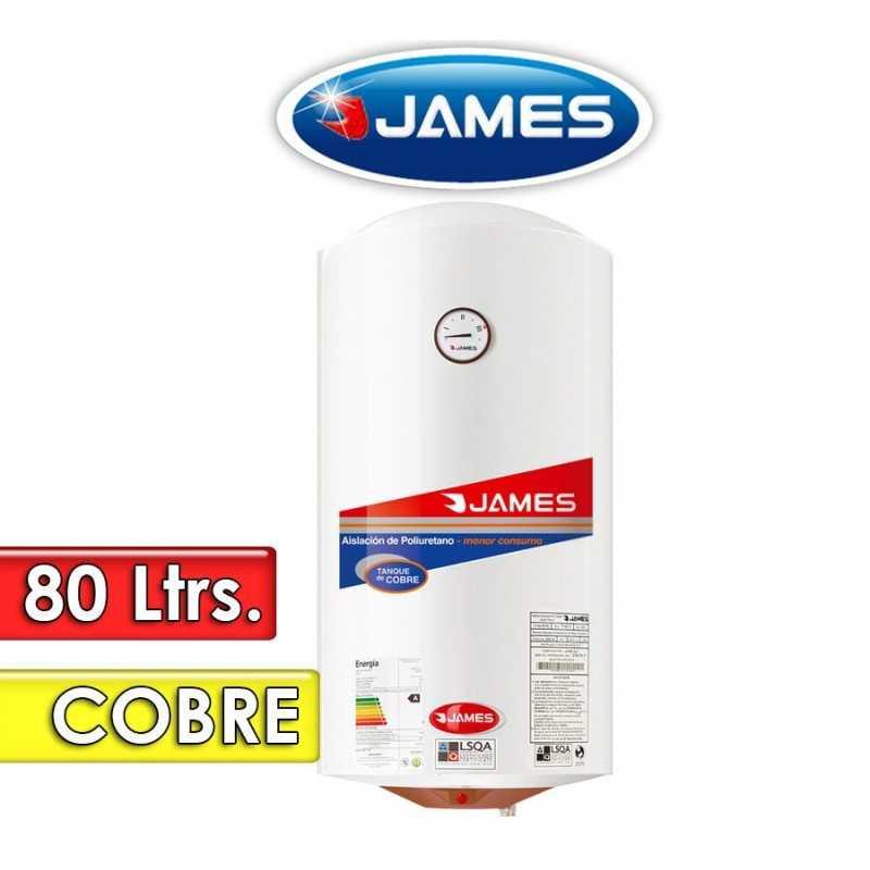 Termocalefón 80 Litros Vertical - James - Tanque de Cobre
