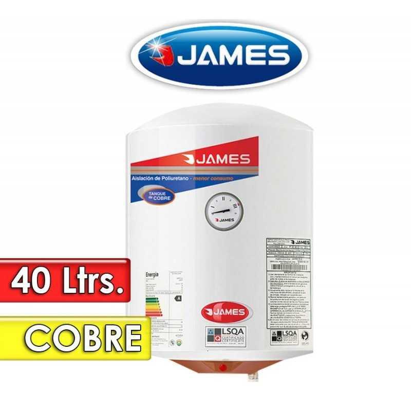 Termocalefón 40 Litros Vertical - James - Tanque de Cobre