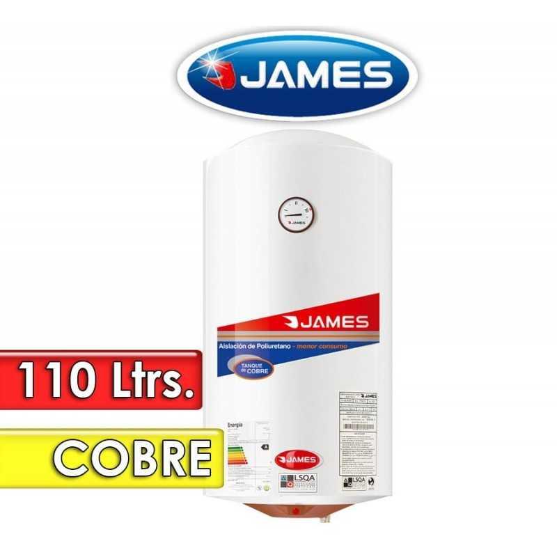 Termocalefón 110 Litros Vertical - James - Tanque de Cobre