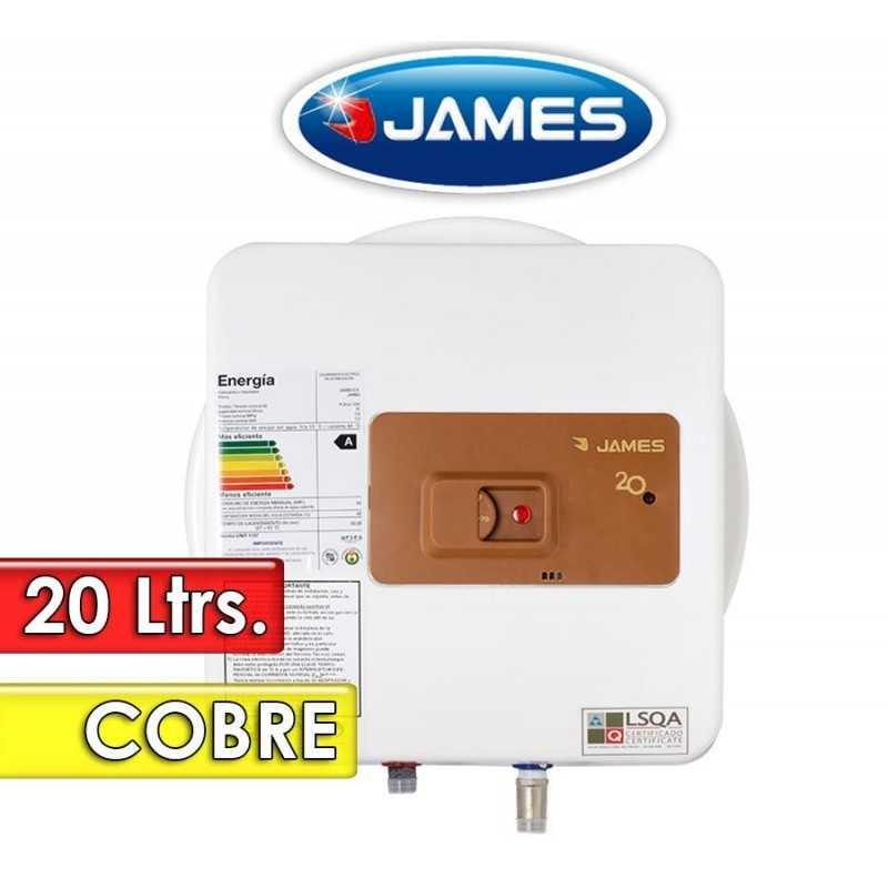 Termocalefón 20 Litros Vertical - James - Tanque de Cobre