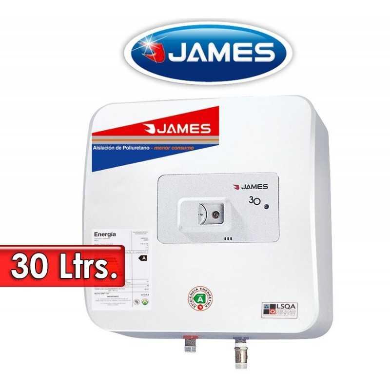 Termocalefón 30 Litros Vertical - James - Tanque de Acero