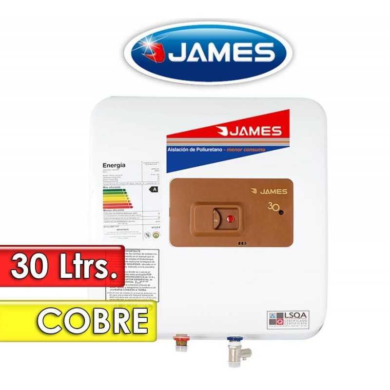 Termocalefón 30 Litros Vertical - James - Tanque de Cobre